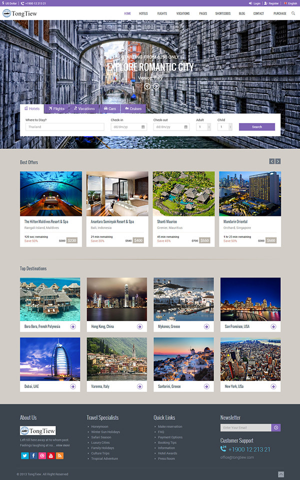 TongTiew - Travel Agency HTML5 Responsive Template on Behance