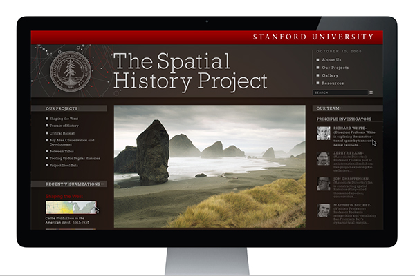 Stanford - Spatial History Project Website on Behance