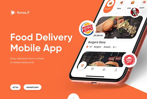 Food Delivery Mobile App   UI/UX Design