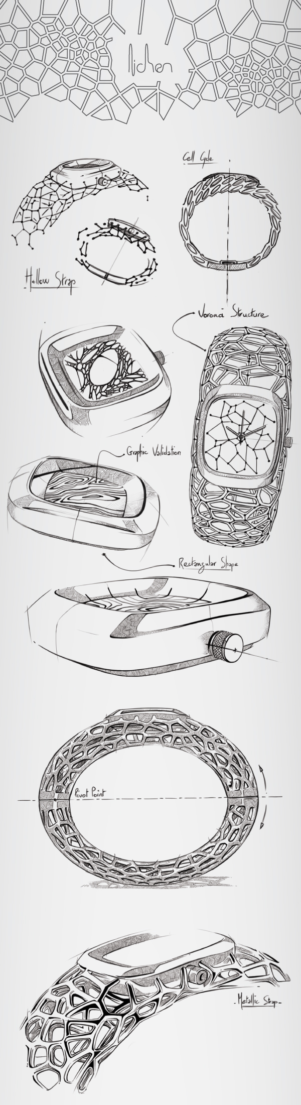 watch,voronoi,3d printing,women,wirstwatch,copper,mechanical,organic,cycle,algae,horlogy,Jewellery,squeleton,sketch,Watches