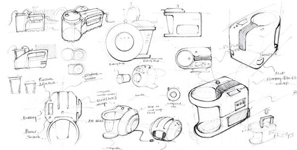 medical product development sketch concept 3D