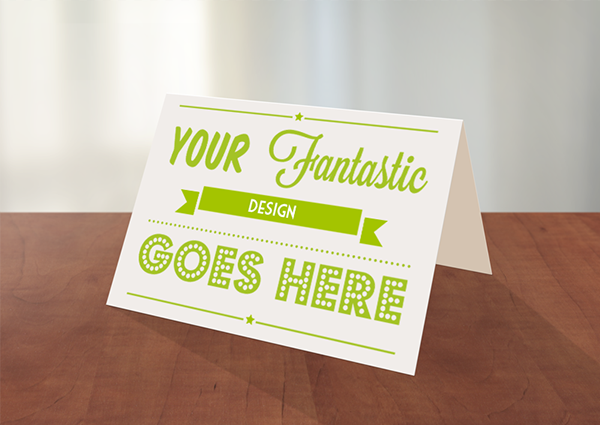 greeting card photoshop mockup on behance, Greeting card