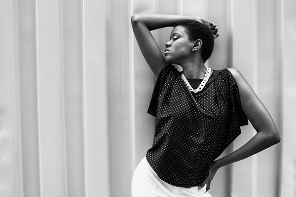 fashion photography female black and white