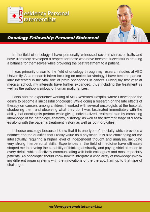 Oncology Fellowship Personal Statement on Pantone Canvas Gallery
