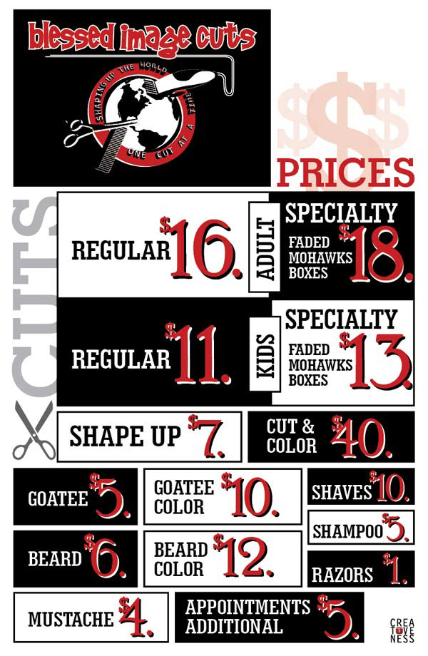 List Poster Design Price List Poster | Blessed