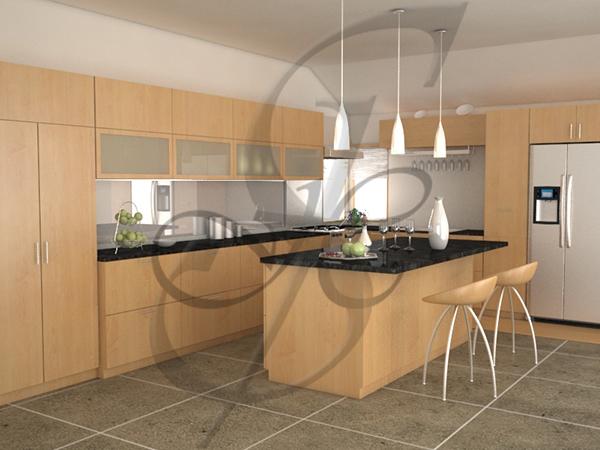 kitchen interior with vray lights render on behance