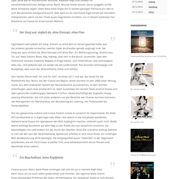 wordpress musicians Clueso zughafen Erfurt germany Max Prosa