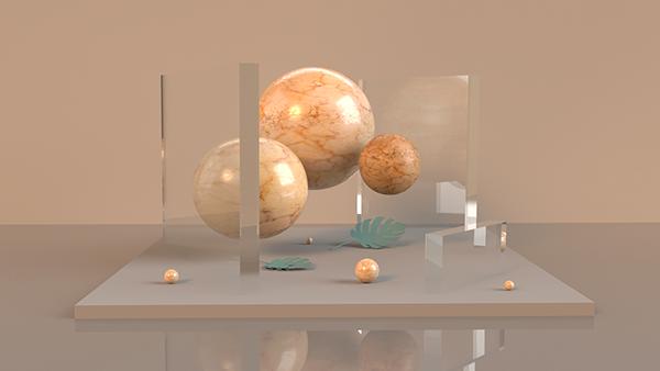 Planet 3d art installation