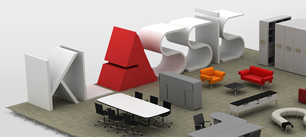 klasssis,3D,Office,furniture,Steelcase,figueras,buzon,Milliken