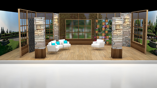 My 3d portfolio ary news the morning show set design on for Publish my design