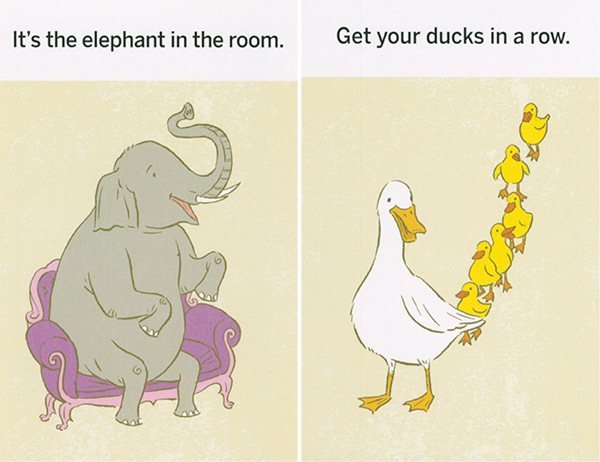 Idioms Illustrated on Behance