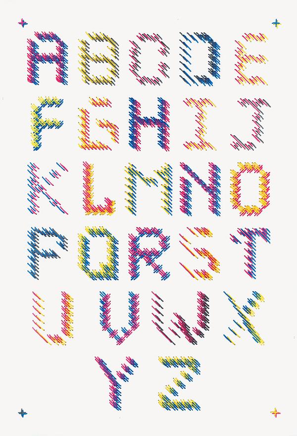 craft type poster stitching