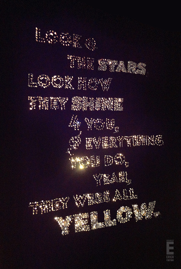 yellow coldplay lyrics: