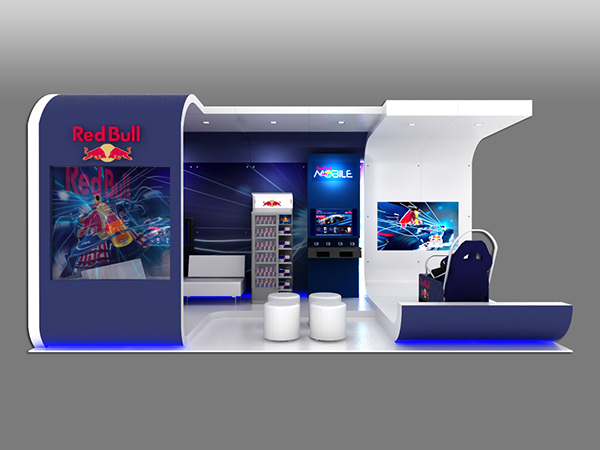 Marketing Exhibition Stand Goals : Red bull custom exhibit on behance