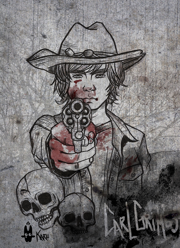 The Walking Dead Carl Grimes On Behance