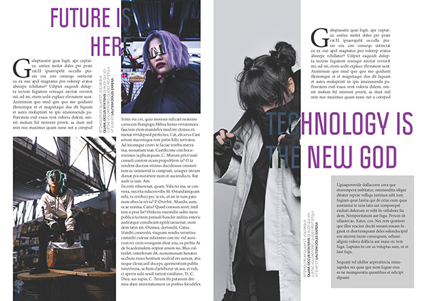 CYBERPUNK February 2020 (Magazine Design)