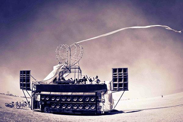 Robot Heart  gregory mueller kiteboard  burningman