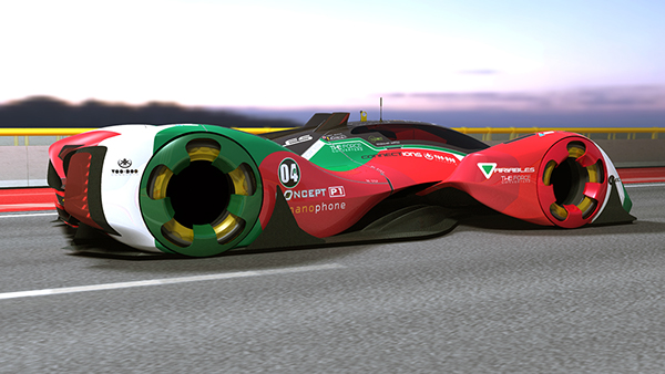 racing car concept lmp electric revolt on track on behance. Black Bedroom Furniture Sets. Home Design Ideas