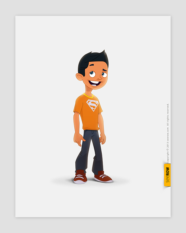 seerow 2d character designs on behance