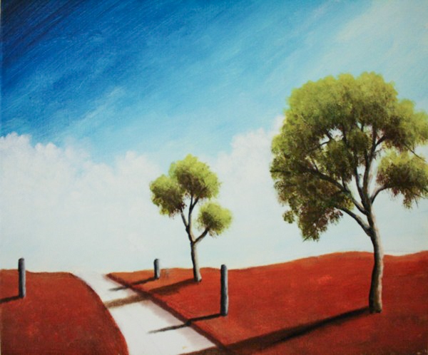 simple landscape paintings on behance