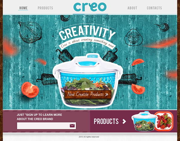 Creo kitchen website on wacom gallery - Creo projects ...