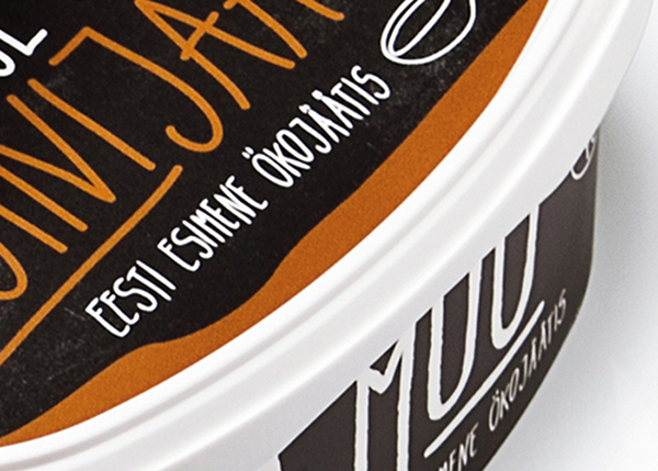 packaging design ice cream hand crafted