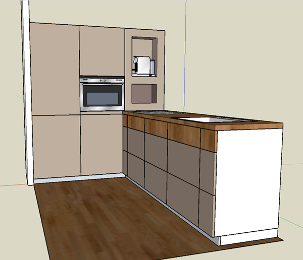 Custom made ikea on behance Kitchen design software google sketchup