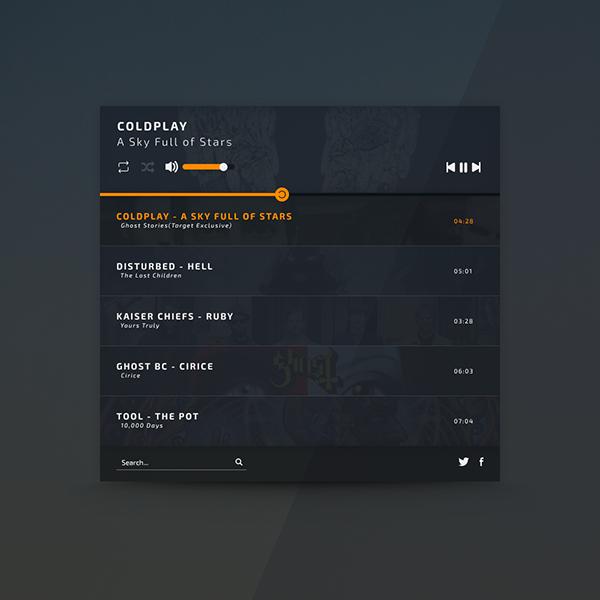 Modern Music Player Design on Pantone Canvas Gallery