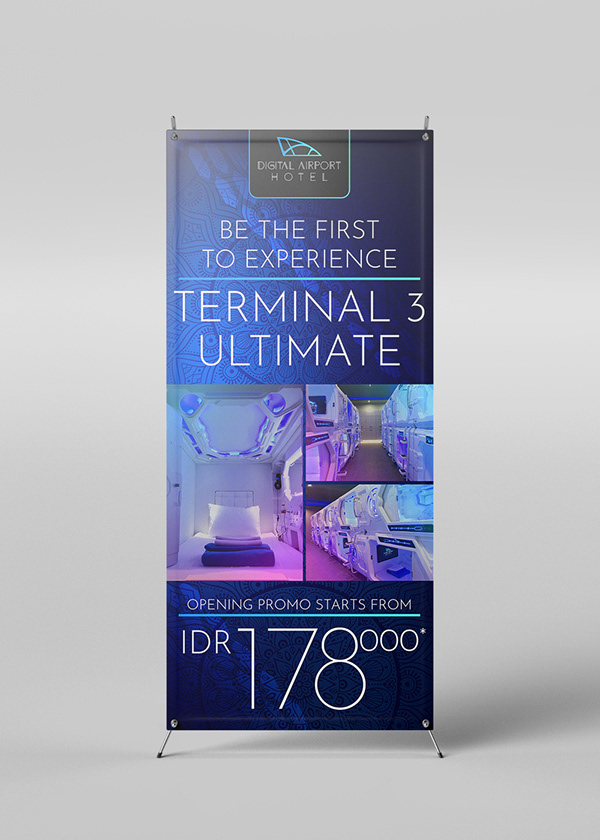 Digital Airport Hotel's x-banner design