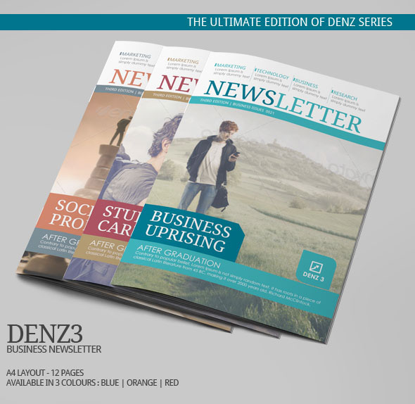 Denz 3 Business Newsletter Template | Modern Design On Behance