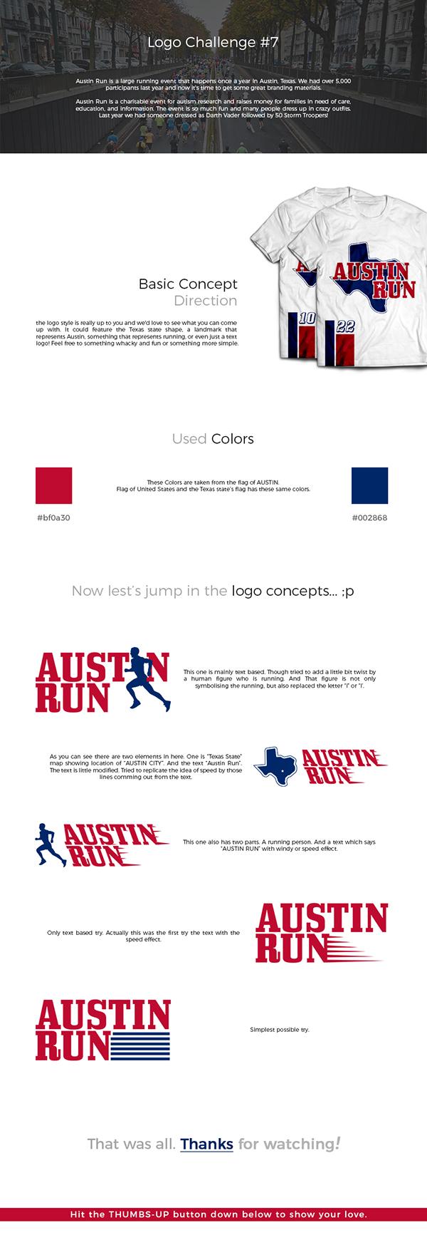 Austin Run Logo On Student Show