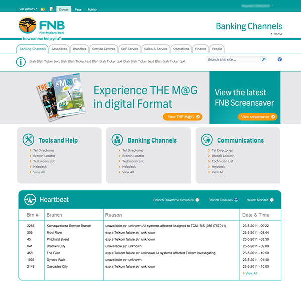 fnb sharepoint 2010 themes on behance