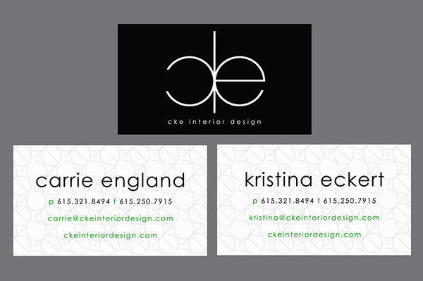 Cke interior design business cards