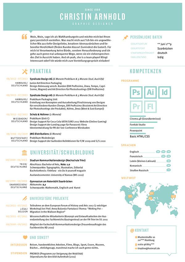 My CV / Mein Lebenslauf on Behance