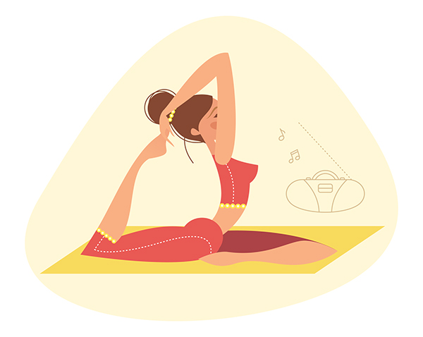 Yoga illustrations on Behance