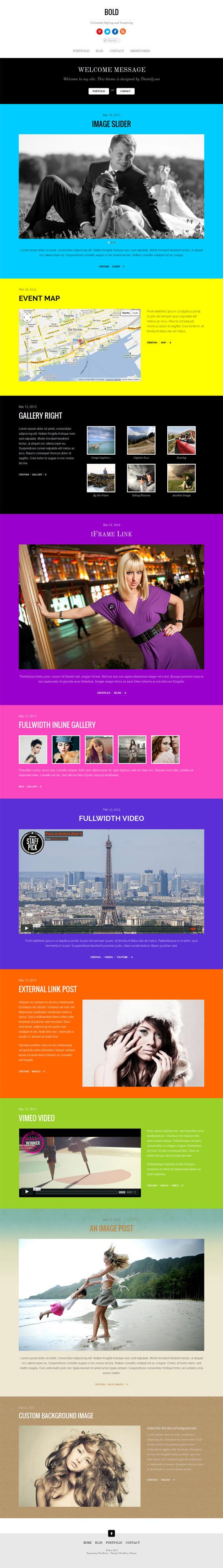 Themify Bold, WordPress Premium OnePage Portfolio Theme