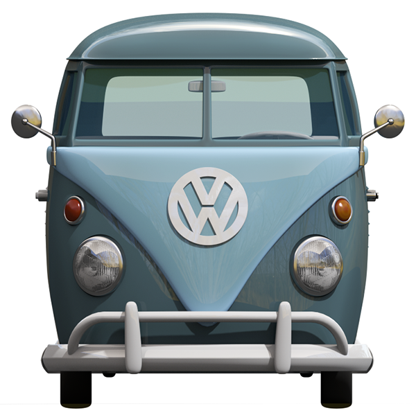 3d Cartoon Styled Vintage Vw Bus On Pantone Canvas Gallery