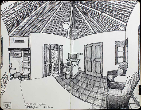 Sketching Hotel Rooms On Behance