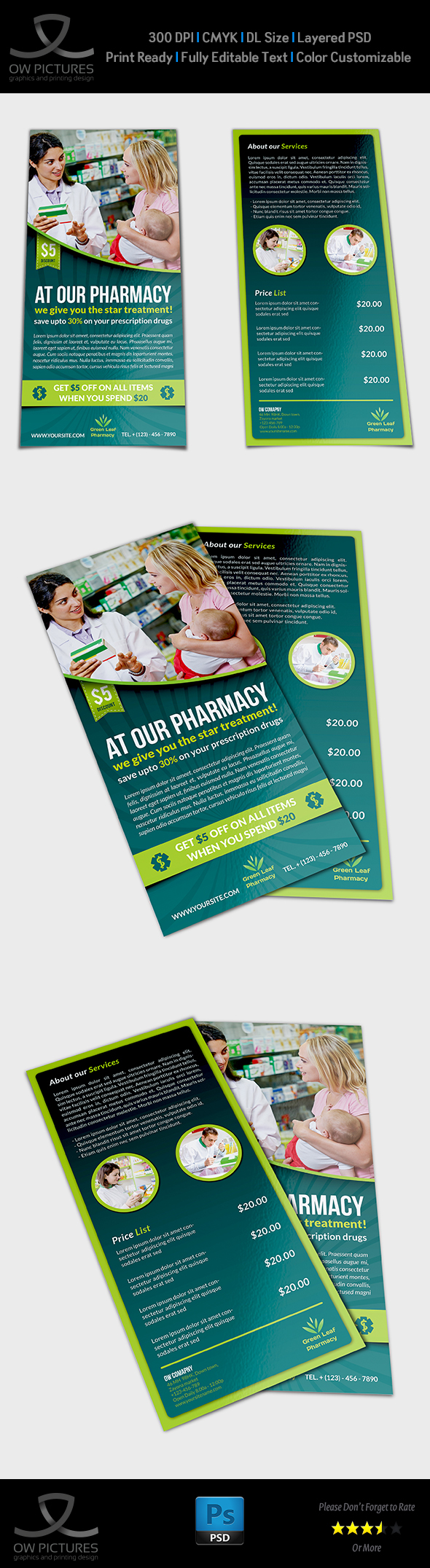 Pharmacy Flyer DL Size Template on Behance