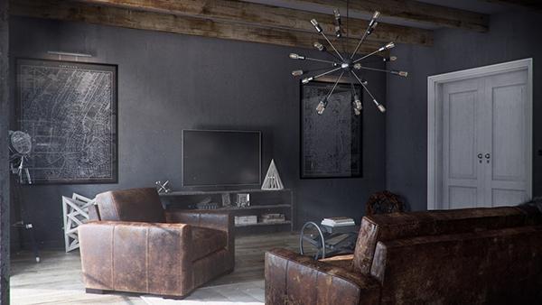 Restoration Hardware Living Room on Behance