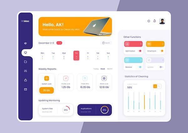 Elegant Web Dashboard User-Interface Design (UI)