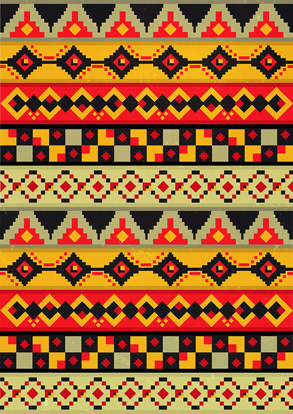 Aztec Patterns On Behance Delectable Aztec Pattern