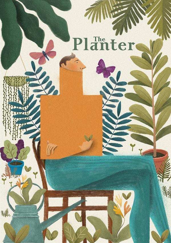 The Planter. Ilustração feita para loja de jardinagem.