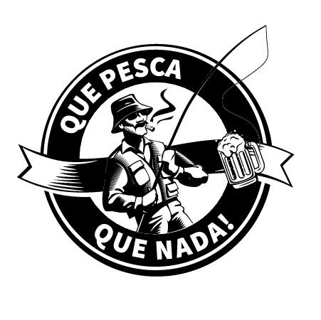 Amigos brasão cycero friends group join logo marca Pesca pescaria