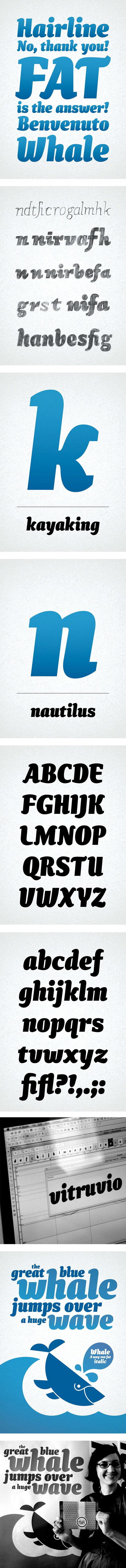 Whale Davide Mottes type design Typeface font