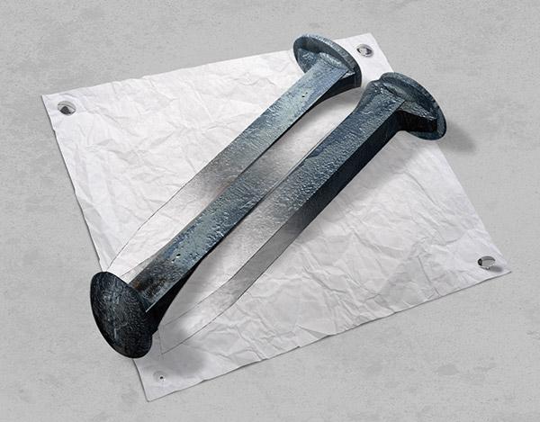 escher metal spikes pencil