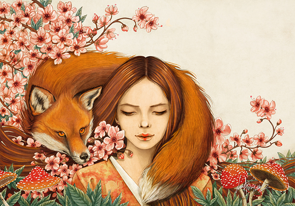 Red Fox Totem  by Lorena Assisi