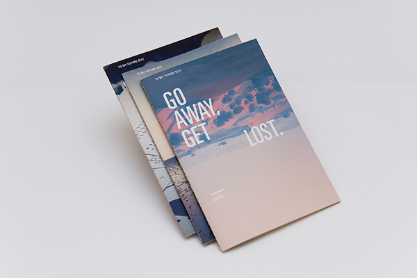 new blood Hand Bound Booklet print book design Travel saddle sewn saddle stitch self promo portfolio to my future editorial D&AD