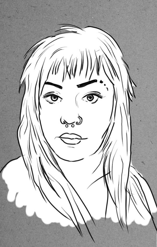 art portraits line drawing friends pen people