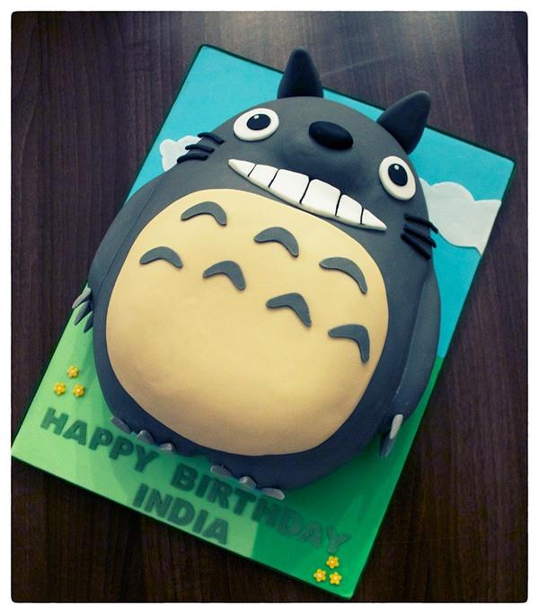 Astounding Totoro Birthday Cake On Behance Funny Birthday Cards Online Aeocydamsfinfo